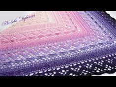 Красавица-шаль Klaziena. Часть 2 - YouTube Crochet Shawls And Wraps, Crochet Scarves, Crochet Woman, Knit Crochet, Poncho Shawl, Crochet Videos, Heart Patterns, Learn To Crochet, Crochet Accessories