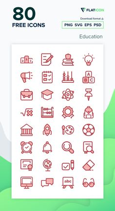80 Education icons for personal and commercial use. Monochrome Red icons. Download now free icon pack from Flaticon, the largest database of free vector icons. #Flaticon #icons #teacher #education #school #college