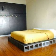 Bed Frame | 14 Simple Cinder Block Outdoor Crafts