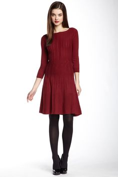 Fit & Flare Sweater Dress by Max Studio on @nordstrom_rack