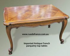 Antique French Parquetry Top Tables