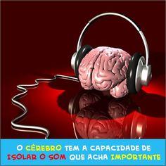 O cérebro é capaz, por exemplo, de isolar as vozes de amigos. Tornando possível conversar em ambientes barulhentos. #cérebro #barulho #ruído #fono #fonoaudiologia #som #fonesdeouvido