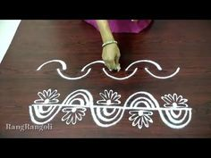 How to draw simple border designs Simple Rangoli Border Designs, Rangoli Borders, Rangoli Patterns, Small Rangoli Design, Rangoli Designs Diwali, Rangoli Designs Images, Beautiful Rangoli Designs, Mandala Design, Simple Designs