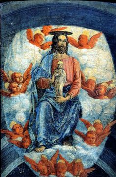 Christ with the soul of the Virgin - Andrea Mantegna