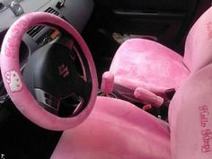 Hello kitty steering wheel and seat covers