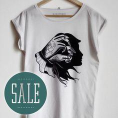 TATTOO t-shirt / Womans t shirt hand shadow by Hardtimestore.etsy.com #sale #specialprice #tattoo #oldschool #traditional #traditionaltattoo #print #tshirt #etsy