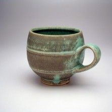Christa Assad, beautiful turquoise mug