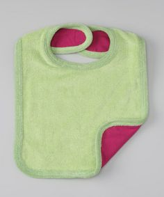Take a look at this Green Organic Bib by wiggle, giggle, coo on #zulily today!