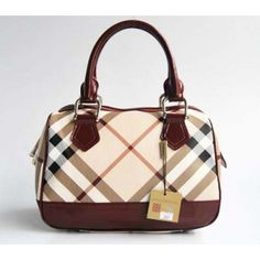 Venta de Burberry de bolsas rejilla Beige rojo Burberry 17274] - €239.95 :