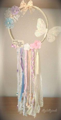 Mariposa besos dreamcatcher pared móvil arte chicas hechos a
