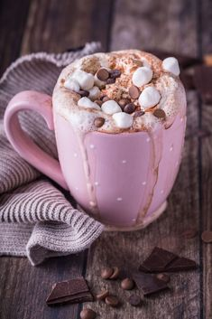 Chocolate shared by Trang Lê on We Heart It Cute Desserts, Dessert Recipes, Chocolate Recipes, Hot Chocolate, Yummy Drinks, Yummy Food, Coffee Love, Coffee Recipes, Aesthetic Food