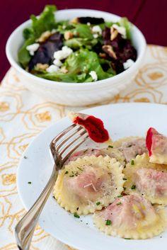 Roasted Beet & Chèvre Ravioli