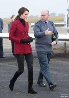 Catherine, The Duchess of Cambridge visits air cadets at RAF Wittering in Peterborough where she took part in a personal development training session