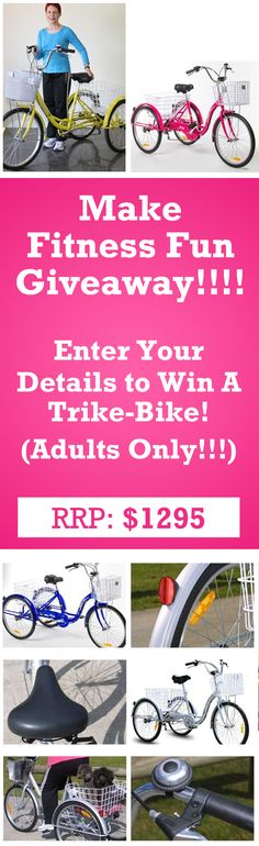I just entered for my chance to win a Trike Bike Courtesy of Sally Symonds - Love Your Weight Loss!  Now it's your turn!