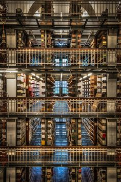 Back room in the Royal Danish library - by Andreas Steen