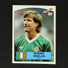 Image result for ronnie whelan panini sticker euro88 Baseball Cards, Stickers, Sports, Image, Hs Sports, Excercise, Sticker, Sport, Decal