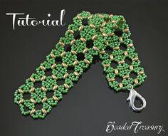 Morocco  beaded lace bracelet tutorial superduo от BeadedTreasury