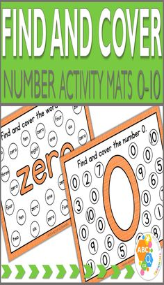 Find and Cover Number Activity Mats 0-10 provide a hands-on approach in helping children with number and number word recognition. This activity will make learning numbers fun and engaging for your little ones! With this activity, children will find and cover the number or number word represented on the mat. This activity can be turned into a fun game by using a timer to see how many numbers/number words the child can find in 1 minute.