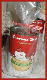 Maybe will try for next year's snowman soup... start collecting soup cans now!