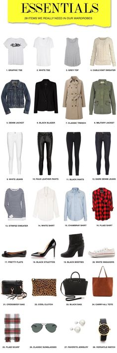Every piece of basic clothing you'll need