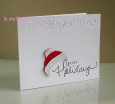 Happy Holidays CAS Style by elmo98ca - Cards and Paper Crafts at Splitcoaststampers