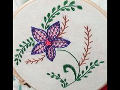 Beautiful embroidery with innovative stitch flower
