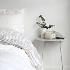 T.D.C: Instagram | I Love Linen reversible linen stripe in Milk, and new Jo Malone Fragrance, Basil & Neroli