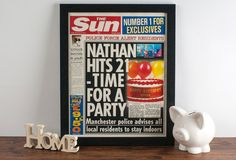 """Personalised Spoof """"The Sun"""" Newspaper Article"""