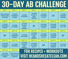 30-Day Ab Core Fitness Challenge