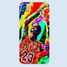 Luxus Basketball Jordan Michael Nummer 23 Weiße abdeckung hard case für Apple iphone 6 6 s Plus 5 5C 5 S 4 4 S(China (Mainland))