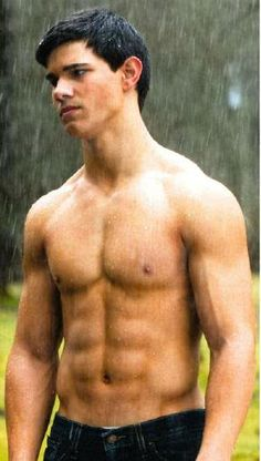 Taylor Lautner shirtless, YES