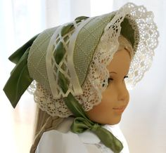 This lovely Dress Bonnet is made with a tiny gingham check designer jacquard and lined with a wonderful matching cotton damask. The bonnet is