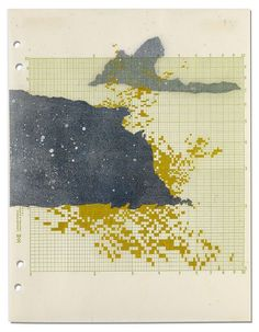 Val Britton Departure Point 1 (2013) Ink and collage on paper