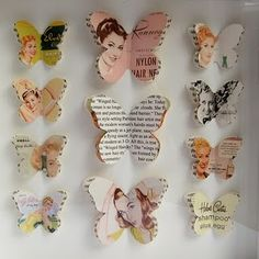 DIY Fashion Magazine Butterflies.....It's easy with a lovely result...can't miss! It doesn't even matter if you use Vintage Magazines or not...both gives a stunning result. Or try a old Atlas, Fairy Tale Picture Book... Just have fun making it!