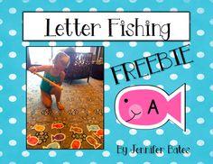 Finally in First: Letter Fishing FREEBIE