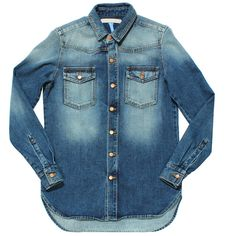 OFF-WHITE Vintage Blue Denim Shirt ($495) found on Polyvore