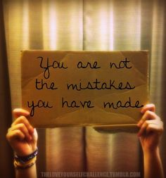 Mistakes do not define us. Mistakes show you the direction not to go in for the future. Mistakes allow you to learn and grow.