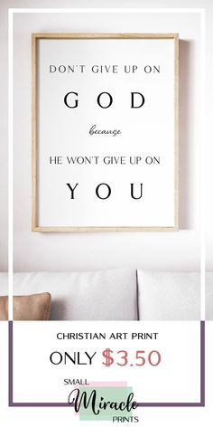 Boost your faith and encourage yourself through this Christian Wall Art. Available @ SmallMiraclePrints for only $3.50 with it's opening sale for a limited time! — Visit our shop and you would be able to view even more affordable inspirational Christian wall art printables! #ChristianWallArt #ChristianPrintables