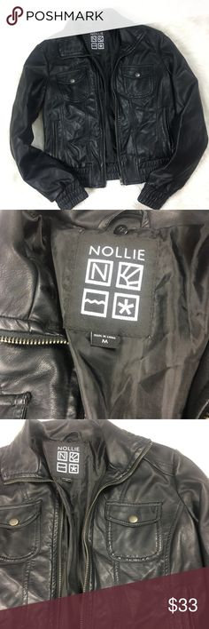 Pacsun Nollie Leather Zip Up Jacket Great condition, Moto Jacket, no flaws, very comfortable and warm PacSun Jackets & Coats