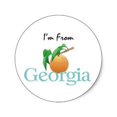 Shop TEE I'm From Georgia Classic Round Sticker created by teepossible. Personalise it with photos & text or purchase as is! Southern Pride, Southern Comfort, Simply Southern, Southern Belle, Southern Living, Georgia Girls, Georgia On My Mind, Georgia Homes, Atlanta Georgia