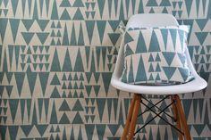 Swedish Scandinavian Geometric contemporary fabric  by Andshine