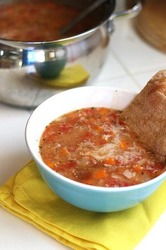 {tuscan bean soup}