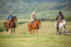 Three cowboys riding their horses head out to roundup cattle on a ranch south of Chinook, Montana.  #Cowboys #Montana #ChinookMontana #MontanaPhotographer #Men #Cowboy #RanchLife #Ranching #Horses #HorsePhotography #Equine #EquinePhotography #QuarterHorse #Horseback #Riding #Rural #Country #PicOfTheDay #OnTheJob #PhotoOfTheDay #West #Western #Americana #Ranch #Agriculture