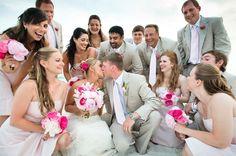 Beach Wedding Wedding Party