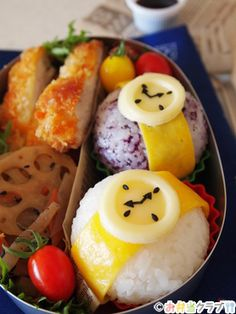 wristwatch  onigiri bento  ....meatball/cheese/sour cream   or  apple/fruit leather/gummy lifesaver or egg/cheese/mini pepper ring
