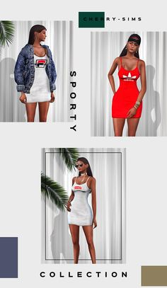 Female Sporty Collection for The Sims 4 by CherrySims Sims Baby, Sims 4 Toddler, Sims 4 Cc Eyes, Sims Cc, Sims 4 Game Mods, Sims Mods, Vêtement Harris Tweed, Sims 4 Pets, The Sims 4 Cabelos