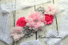 Items similar to PINK GRAY Chiffon Flower Maternity Sash Belt - Pregnancy Photo Prop - It's A Girl - Pregnancy Sash - Gender Neutral Sash - Pink White Sash on Etsy Maternity Photo Props, Maternity Sash, Maternity Photos, Newborn Photos, Pregnancy Photos, Baby Shower Sash, Fashion Tape, Sash Belts, Chiffon Flowers