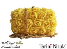 'WILD ROSE' YELLOW Minaudière  Inspired by the untamed beauty of ethereal roses, make heads turn with this delicate statement piece minaudiere, to be adorned with flawless style.Perfect for a summer brunch or an evening out with friends. Optional silver chain.Limited Edition piece.<3THE COLOUR-FRESH<3