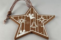 The Ribbon Room | 88030 - Wooden Christmas Star Decorations!! Xoxo  http://theribbonroom.co.uk/88030-wooden-christmas-star-decorations.html