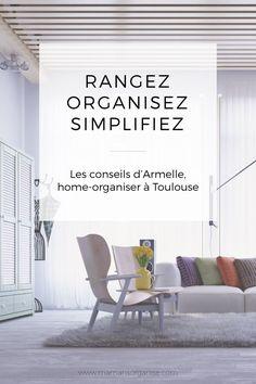 les conseils dArmelle home organiser à Toulouse Journal Organization, Home Organisation, Toulouse, Armelle, Flylady, Home Hacks, Better Life, Living Room Designs, Sweet Home